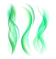 Smooth green smoke isolated on white background vector image