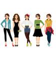 women fashion styles vector image