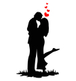 Kissing lovers vector image
