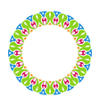 abstract ornamental colorful round framework vector image