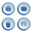 Airport baggage icon set Hand luggage for vector image vector image