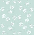 baby handprints seamless pattern for boys vector image