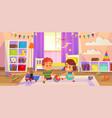 baby room children play on floor vector image vector image