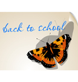 back to school background with butterfly vector image vector image