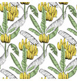 banana custom jungle fabric seamless pattern vector image
