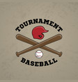 baseball logo emblem of baseball tournament vector image vector image