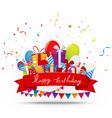 Birthday celebration elemen vector image vector image