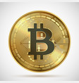 bitcoin coin cryptocurrency golden money digital vector image