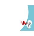 Business man cartoon on megaphone bubble speech vector image vector image