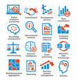 business management icons pack 04 vector image vector image