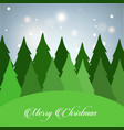 christmas card with tree and glitters vector image