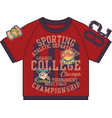 college athletic department sporting t shirt vector image vector image