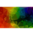 Colorful 3D Geometric Abstract Polygonal Triangle vector image vector image