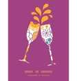colorful oriental flowers toasting wine vector image vector image