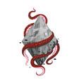 concept print scuba diving design vector image vector image