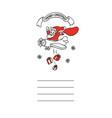 cute sketch funny santa claus vector image vector image