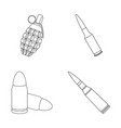 design of weapon and war symbol collection vector image