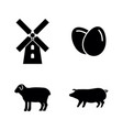 farming simple related icons vector image vector image