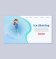 figure skating web template on ice winter season vector image vector image
