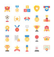 flat icons rewards and medals vector image