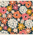 floral seamless pattern hydrangea poppy vector image