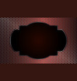 Geometric background with metal grille and oval vector image