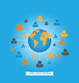 global social media network vector image vector image