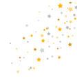 golden and silver stars frame celebration banner vector image vector image