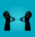 hands in handcuffs vector image
