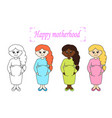 happy motherhood vector image vector image
