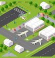 isometric 3d city quarter with vector image
