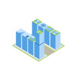 isometric city street with houses vector image vector image