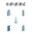 isometric construction set of urban cityscape vector image