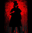 jack the ripper blood background vector image vector image
