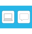 Laptop computer chat vector image