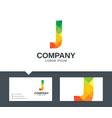 letter j - logo design vector image vector image