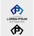 Letter P logo icon design template vector image vector image