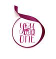 lettering design valentine day vector image vector image