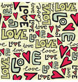 love typography pattern vector image vector image