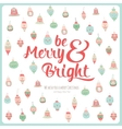 Merry Christmas and Happy New 2016 Year Card vector image vector image