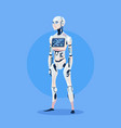 modern robot futuristic artificial intelligence vector image vector image