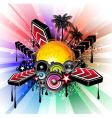 musical event background vector image