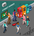 musicians isometric composition vector image vector image