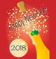 new years 2018 bottle vector image vector image