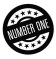 number one rubber stamp vector image