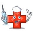 nurse cross character cartoon style vector image
