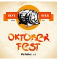 Oktoberfest vintage background Typographic poster vector image vector image