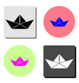 paper ship flat icon vector image