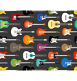 pattern color acoustic and electric guitars vector image