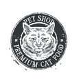 pet shop logo design template food or cat vector image vector image